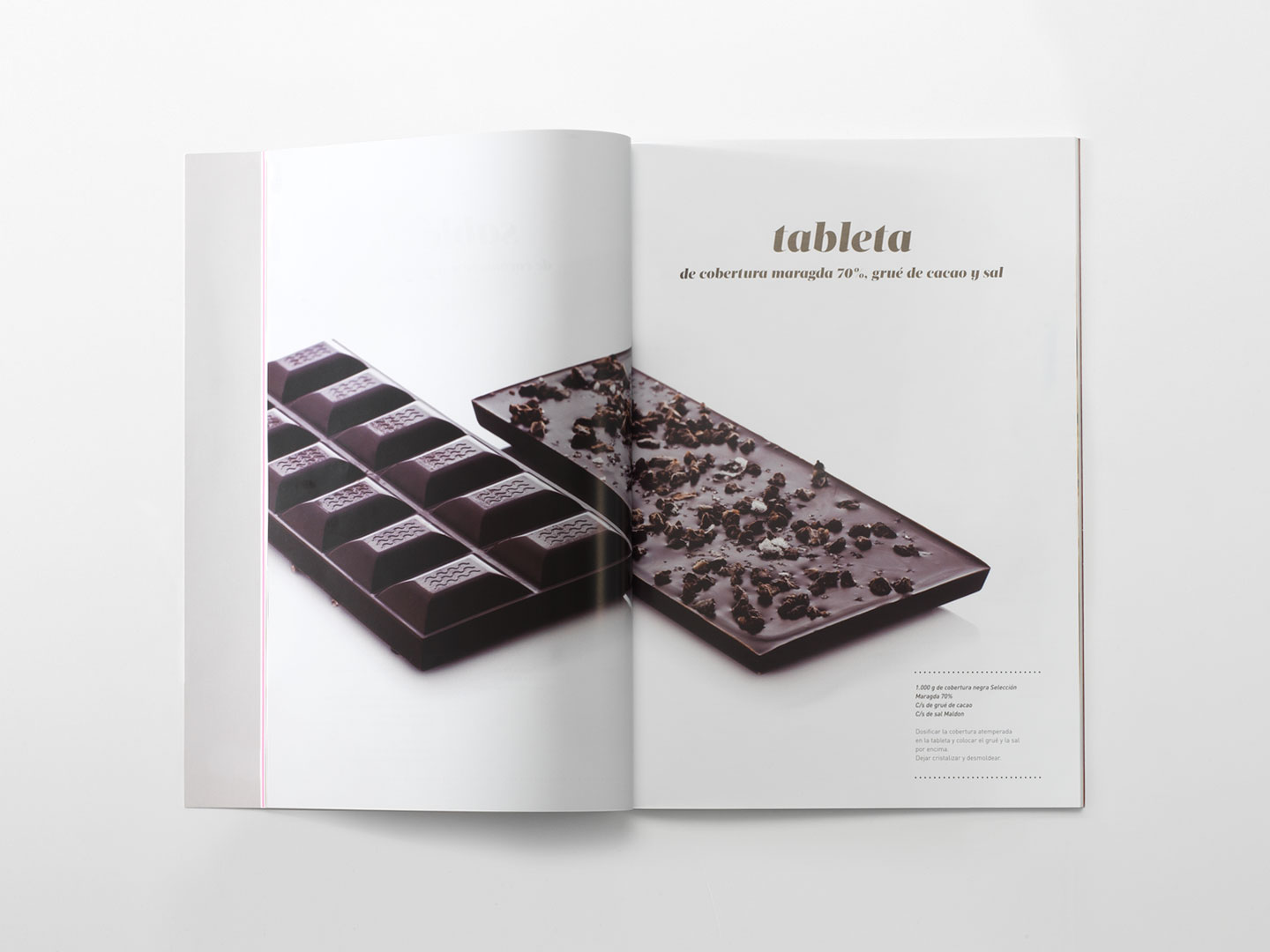 Receta de tableta de chocolate del magazine de Chocovic