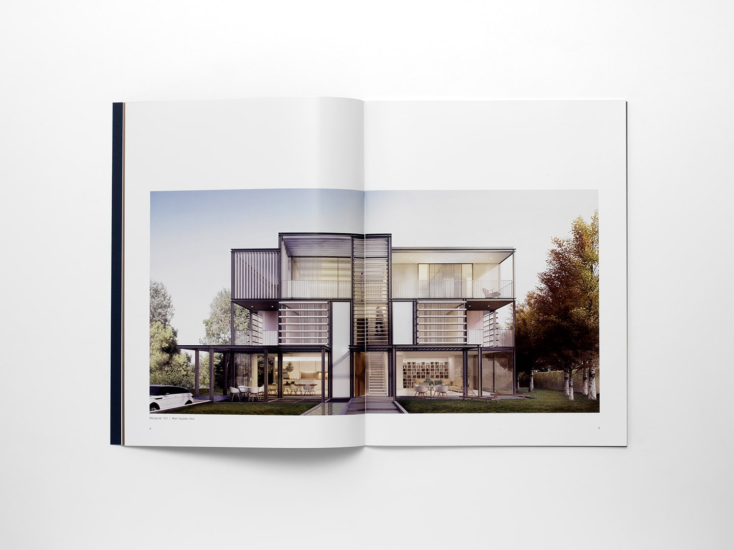 Interior of the housing book for KKH