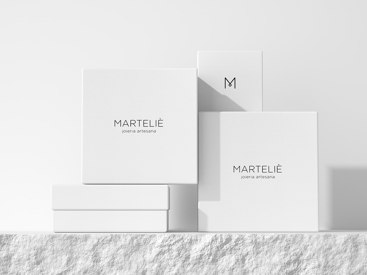 Packaging boxes for Marteliè
