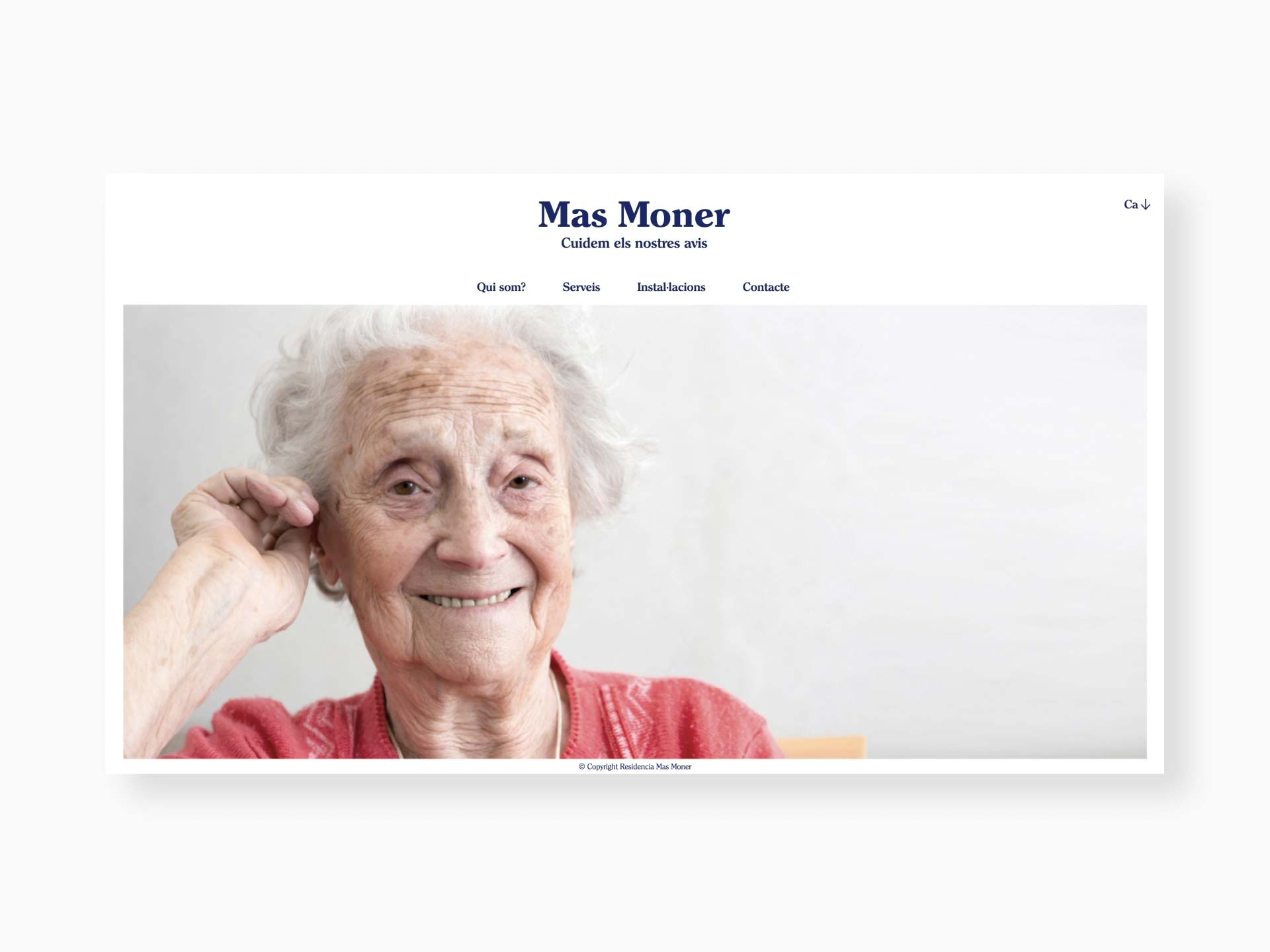Homepage de Mas Moner