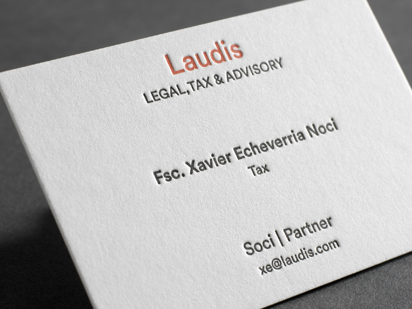 Laudis business card