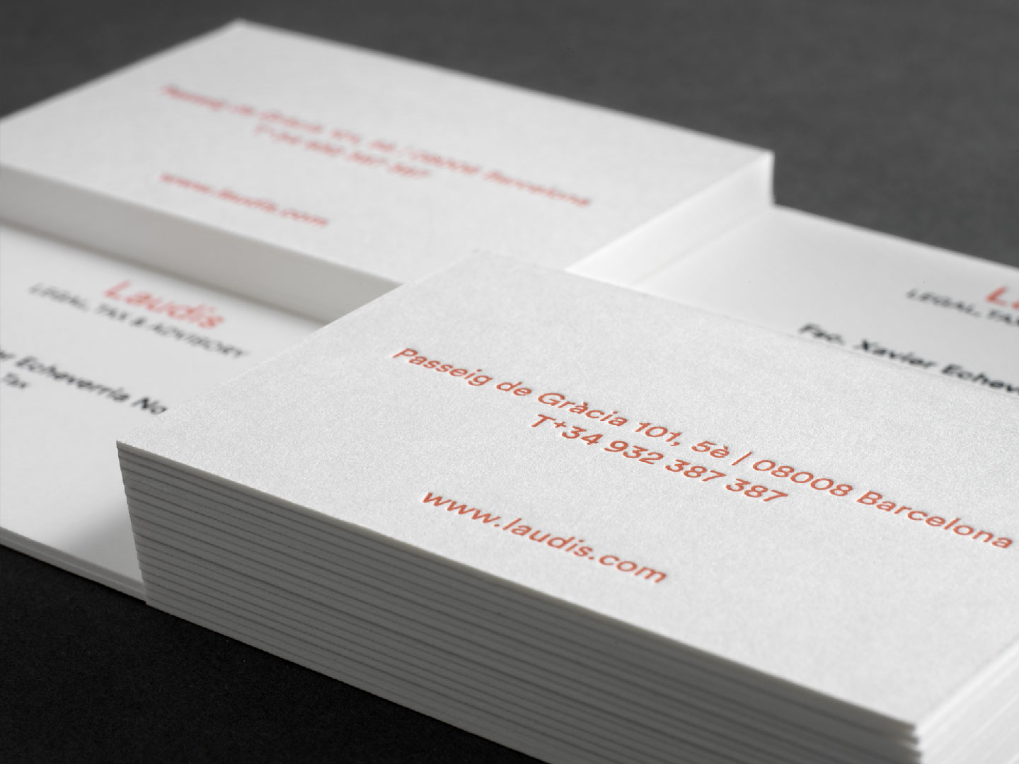 Laudis business card detail